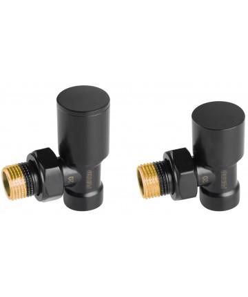 """Set robineti tur/retur radiator coltari 1/2"""", negru -ZGB31BL -FERRO -Seturi termostatice -84,99lei -product_reduction_percent"""