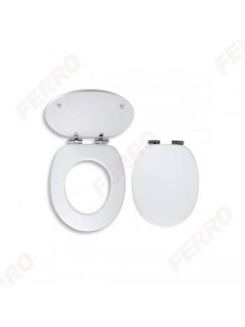 Capac WC soft closing MDF-alb -WC/SOFTMDF -FERRO -Capace WC -159,99RON -
