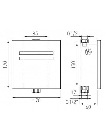 Zephyr Sensor baterie pisoar cu senzor -BBB201 -FERRO -Baterie cu senzor -1,299.99 -