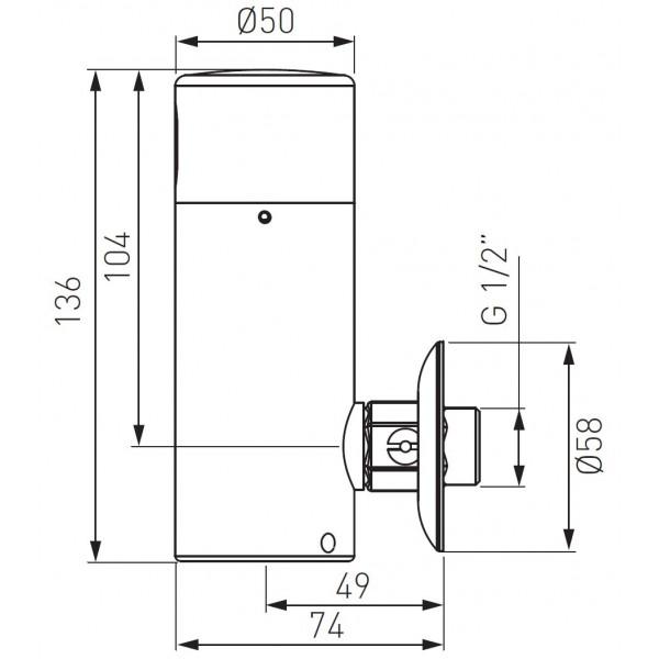 Zephyr Sensor baterie pisoar cu senzor -BBB211 -FERRO -Baterie cu senzor -1,299.99 -