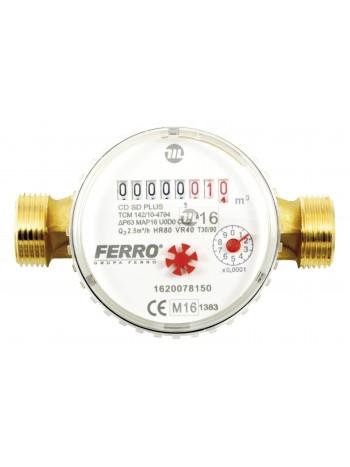 Contor pentru apa cu racorduri filetate 1 DN20 -CDSD20ACPLUS -FERRO -Contoare de apa -99,99RON -