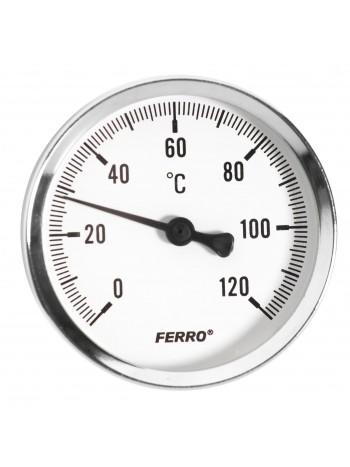 Termometru 63 mm 1/2 120°C, montaj axial -T63120A -FERRO -Termometre -12,99RON -