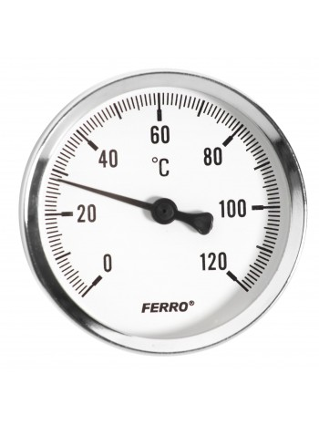 Termometru 100 mm 1/2 120°C, montaj axial -T100120A -FERRO -Termometre -18,99RON -