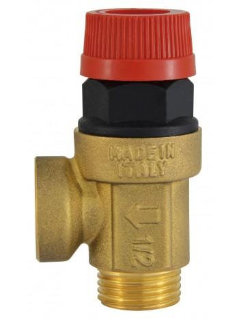 Supapa siguranta pentru instalatie C.O. cu apa calda 1/2x1/2 3 BAR -Z1530MF -FERRO -Elemente de siguranta si reglaj -27,99RON -