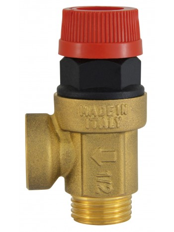 Supapa siguranta pentru instalatie C.O. cu apa calda 1/2x1/2 6 BAR -Z1560MF -FERRO -Elemente de siguranta si reglaj -27,99RON -