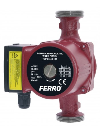Pompa circulatie pentru apa potabila 25-40 180 -0201W -FERRO -Pompe de circulatie -274,99 lei -product_reduction_percent