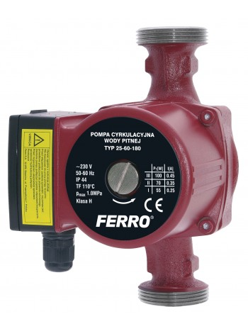 Pompa circulatie pentru apa potabila 25-60 180 -0202W -FERRO -Pompe de circulatie -314,99 lei -product_reduction_percent
