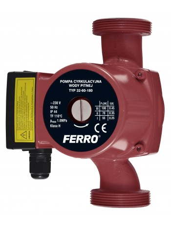 Pompa circulatie pentru apa potabila 32-60 180 -0302W -FERRO -Pompe de circulatie -334,99 lei -product_reduction_percent