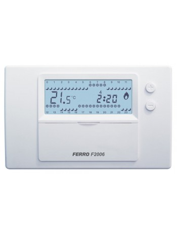 Termostat electronic saptamanal -F2006 -FERRO -Termostate electronice saptamanal -259,99RON -