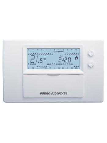 Termostat electronic saptamanal fara fir -F2006TXT6 -FERRO -Termostate electronice saptamanal -329,99RON -