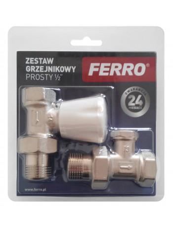 """Set robineti tur/retur calorifer drept 1/2"""" -ZGB01 -FERRO -Seturi termostatice -34,99RON -"""