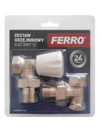 """Set robineti tur/retur calorifer coltar 1/2"""" -ZGB02 -FERRO -Seturi termostatice -40,45lei -product_reduction_percent"""