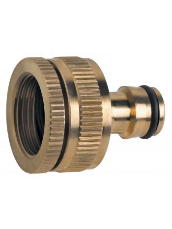 Adaptor pentru robinet din alama 3/4x1 -DY8023C -FERRO -Accesorii alama pentru furtunuri de gradina -13,99RON -