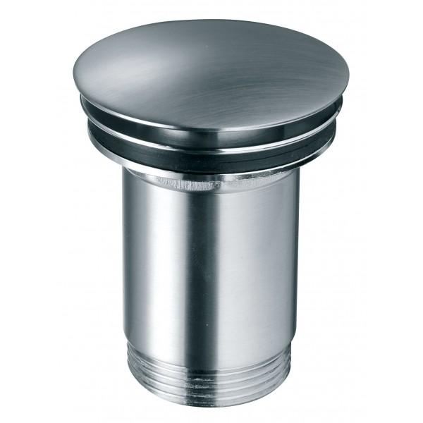 Ventil click-clack cu preaplin - Rotondo inchis G 1 1/4 pentru scurgere baie, nichel partial