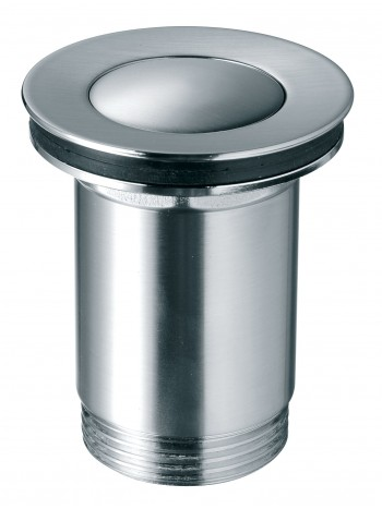 Ventil click-clack cu preapin inchis G 1 1/4 pentru scurgere baie, nichel partial -S283NC -FERRO -Ventile scurgere -49,99RON -
