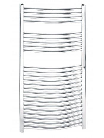 Radiator de baie cromat, simplu, curbat 450*1200 -450/1200.0 -FERRO -Radiatoare pentru baie -499,99RON -