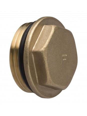 """Dop pentru distribuitor/colector 1"""" cu O-ring -KOR5ZOR -FERRO -Accesorii pentru distribuitoare din alama -4,99RON -"""