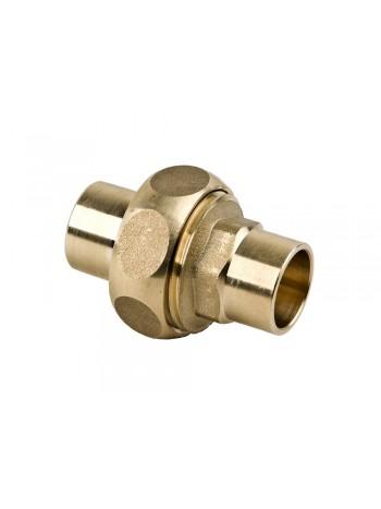 Hollender drept alama pentru racordare teava cupru lipire 15mm -4340-15 -FERRO -Fitinguri din alama -9,49RON -