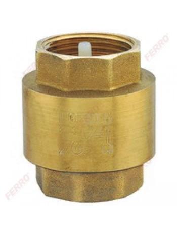 "Supapa de retentie alama, cu arc interior material PVC 2-1/2"" -ZZ7 -FERRO -Alte tipuri te robineti pentru apa -98,99RON -"