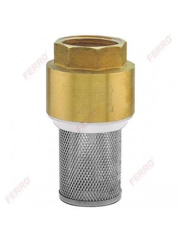 "Sorb alama, cu arc interior PVC, si sita impuritati otel inox 6/4"" -K24 -FERRO -Alte tipuri te robineti pentru apa -32,99RON -"