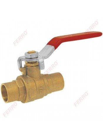 Robinet sferic apa cu maneta, pentru lipire teava neagra sau cupru 28 mm -KPL5 -FERRO -Supape pentru lipire -29,99RON -