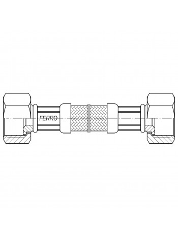 "Racord flexibil 3/8""x3/8"" interior-exterior 30cm -PWS911 -FERRO -Racorduri metalice pentru apa -5,99RON -"