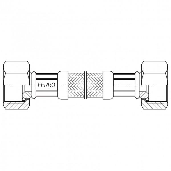 "Racord flexibil 3/8""x3/8"" interior-exterior 50cm -PWS93 -FERRO -Racorduri metalice pentru apa -7,99RON -"