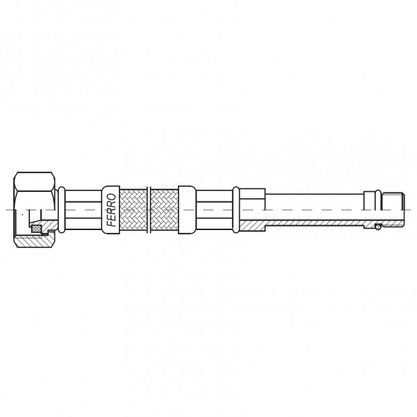 "Racord flexibil 3/8""xM10x1 cu capat lung 35cm -WBS13 -FERRO -Racorduri metalice pentru apa -5,99RON -"