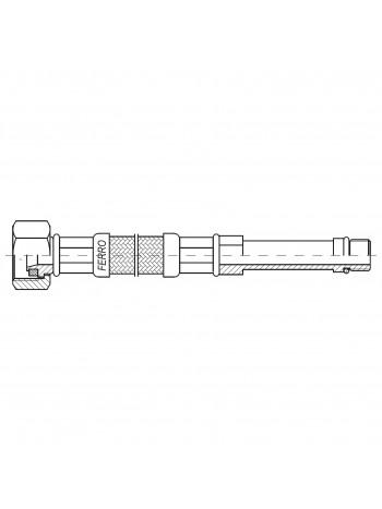 "Racord flexibil otel 1/2""xM10x1 cu capat lung 40cm -WBS25 -FERRO -Racorduri metalice pentru apa -8,49RON -"