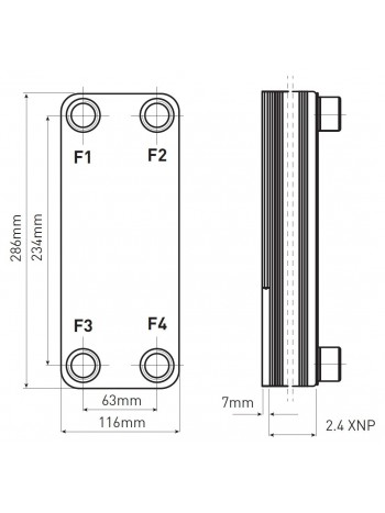 "Schimbatoare 1"" fara izolatie pentru instalatie cu combustibil solid 15-20kw -IC9THX15 -FERRO -Seturi schimbator-pompa -599,9..."