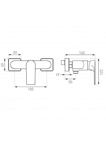Square - baterie baterie dus perete -BAQ7 -FERRO -Square -199,99RON -