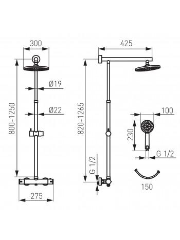 Set baterie dus termostatica Trevi - set 2 in 1 -NP75-TRV7U -FERRO -Seturi baterie dus  -999,99RON -product_reduction_percent
