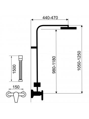 Set baterie dus cu set dus Edge - set 2 in 1 -SET069/36.0 -FERRO -Seturi baterie dus  -1,190.00 -product_reduction_percent