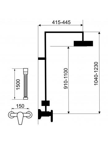 Set baterie dus cu set dus Heda - set 2 in 1 -SET068/40.0 -FERRO -Seturi baterie dus  -1,090.00 -product_reduction_percent