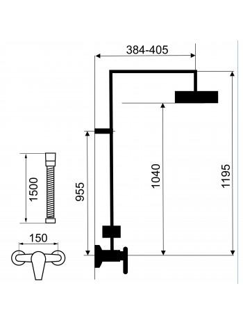Set baterie dus cu set dus Tina - set 2 in 1 -SET041/38.0 -FERRO -Seturi baterie dus  -819,99RON -product_reduction_percent