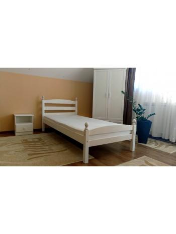 Pat dormitor Bianca, lemn brad, 1 persoana, 90×200 cm Alb -BIW-90 - -Paturi si saltele -439,99lei -