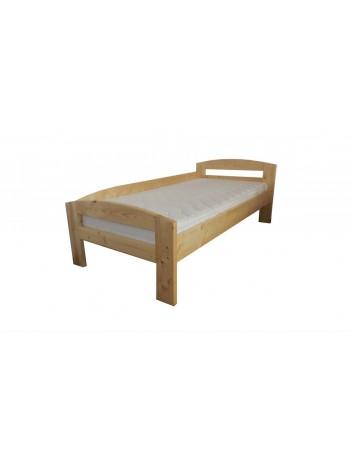Pat dormitor Serena, lemn brad, 1 persoana ,100×200 cm cu protectie la perete -LAP-100 - -Paturi si saltele -559,99lei -