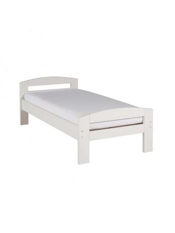 Pat dormitor Serena, lemn brad, 1 persoana ,100×200 cm alb -w-100 - -Paturi si saltele -399,00RON -