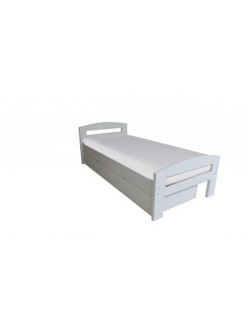 Pat dormitor Serena, cu lada de depozitare, 90×200 cm alb mat -WD-90 - -Paturi si saltele -649,00RON -