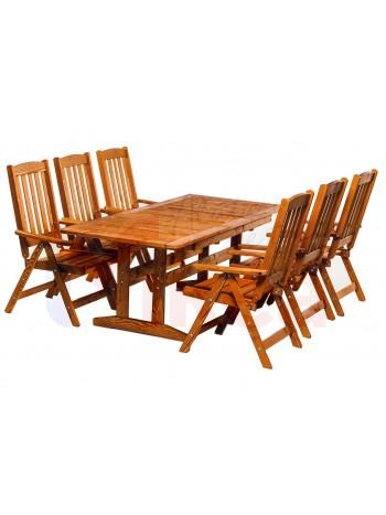 Set mobilier gradina pliabil EVA lemn cu masa extensibil 160/210x80x73 culoare teak -BON-6 - -Mobilier gradina -1,999.00 -