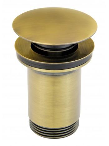 """Ventil de scurgere D.1 1/4"""" Rotondo, bronz antichizat pentru lavoare cu preaplin -S285BR -FERRO -Ventile scurgere -83,29lei ..."""
