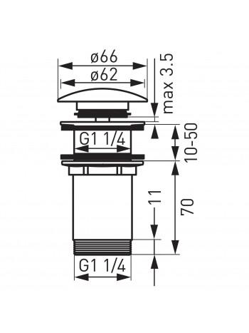"""Ventil de scurgere D.1 1/4"""" Rotondo, bronz antichizat -S285BR -FERRO -Ventile scurgere -83,29lei -product_reduction_percent"""