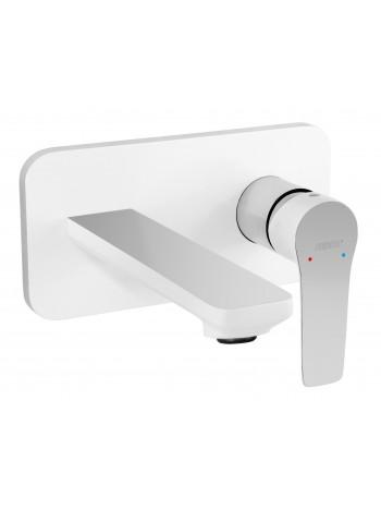Adore White - baterie ingropata lavoar alb, pipa 19 cm -BDR3PA -FERRO -Adore Alb -539,99lei -product_reduction_percent