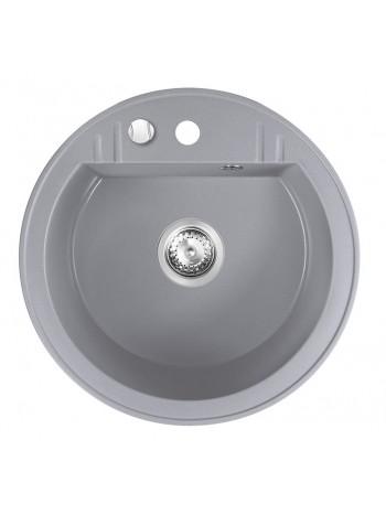Chiuveta bucatarie simpla Ø 51 cm, gri Mezzo II -DRGM1/51GA -FERRO -Chiuvete granit -624,99lei -product_reduction_percent