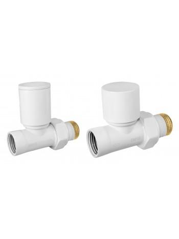 "Set robineti tur/retur radiator drepti 1/2"", alb -ZGB30WH -FERRO -Seturi termostatice -84,99lei -product_reduction_percent"