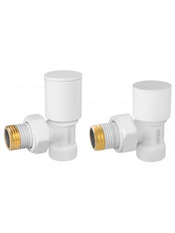 "Set robineti tur/retur radiator coltari 1/2"", alb -ZGB31WH -FERRO -Seturi termostatice -84,99lei -product_reduction_percent"