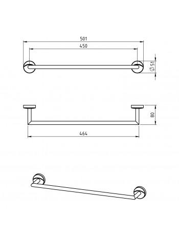 Portprosop 450 mm Metalia 11 -0127.0 -FERRO -Metalia 11 -174,99lei -product_reduction_percent
