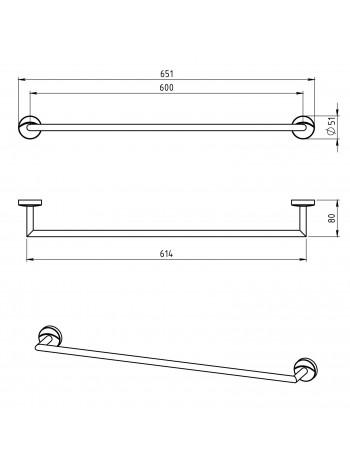 Portprosop 600 mm Metalia 11 -0128.0 -FERRO -Metalia 11 -199,99lei -product_reduction_percent