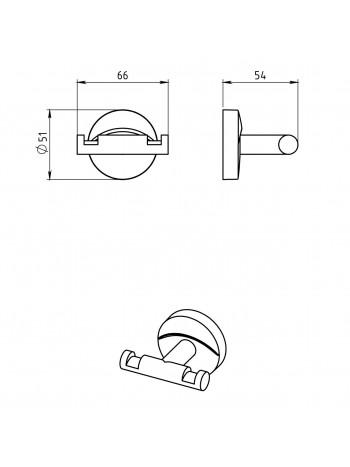 Agatatoare dubla Metalia 11 -0156.0 -FERRO -Metalia 11 -87,49lei -product_reduction_percent