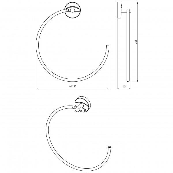 Portprosop rotund Metalia 11 -0101.0 -FERRO -Metalia 11 -135,99lei -product_reduction_percent